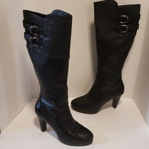 Cole Haan Black Nike Air Heeled Boots